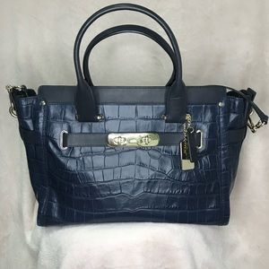 Coach Swagger 37 Crocodile Embossed
